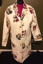 Play alegre San Diego Hand Painted Ribbed Cotton Women's Full Length Jacket Coat