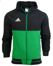 Adidas Tiro 17 Men's Training Top Hoodie Jumper Gym Football Running Zip Pockets
