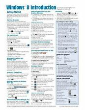 Windows 8 Quick Reference Guide Cheat Sheet of Instructions, Tips & Shortcuts -
