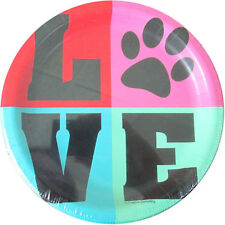 PET PARTY Love SMALL PAPER PLATES (10) ~ Birthday Supplies Cake Dessert Puppies