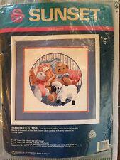 Needlepoint Kit Multi-textured Toys 1990 Sunset Designs