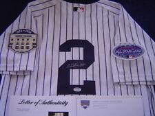 NEW YORK YANKEES DEREK JETER signed 2008 GAME ISSUED JERSEY CAPTAIN PSA STEINER