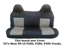 Black/Gray Mesh Fabric Bench seat cover Fit Ford F-250,F-350,F-450 99-08 Truck's