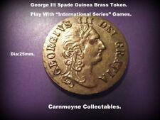 George III Spade Guinea Brass Token Play With International Series Games.AH7707.