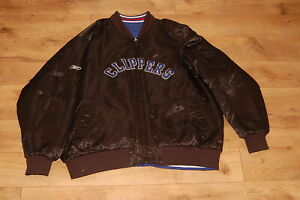 2 in 1 Clippers Reversible Jacket Men's 4XL Reebok Quilted Blue Black  XXXXL