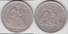 REDUCED AGAIN!! BETTER DATE 1868-S SEATED HALF DOLLAR XF