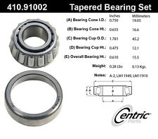 Centric Parts 410.91002E Front Outer Bearing Set