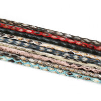 5yards 3mm Leopard Print PU Leather Cord Rope Fit Bracelet Jewelry Diy Findings
