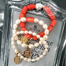 BOWERHAUS Alfie Trio Bracelet - 24K Gold Coins Baroque Pearls