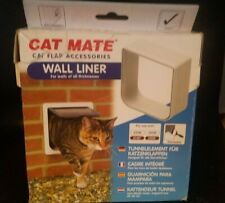Cat Mate Cat Flap Wall Liner - White 303W Use With 234W 234G 234B 235W Paintable