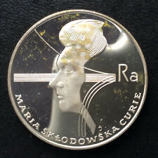 1974 Poland 100 Zlotych Maria Sklodowska Curie Gem Proof Silver Coin A5656