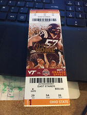 2015 OHIO STATE BUCKEYES OSU VS VIRGINIA TECH HOKIES FOOTBALL TICKET STUB 9/7
