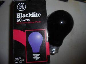 GE  Indoor Blacklight 60w med base 1000 hrs Great For Hallowen