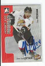 Theo Peckham Signed 2005/06 Heroes and Prospects Card #408