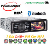 "3"" HD 1 Din FM  AUX USB WMA Bluetooth Car DAB+ Radio Stereo In-Dash MP5 Player"