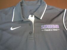 Nike Dri Fit LIPSCOMB BISONS COLLEGE TRACK & FIELD Womens Small Polo Shirt