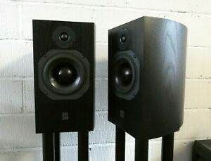 ATC SCM19v2 Standmount Speakers in Black with Stands - Preowned