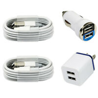 2x Fast Charging Cables Wall & Car Chargers for iPhone 11 X XS Max PLus 8 7 6 5