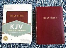 Nib! Kjv Large Print Compact Reference Bible in Premium Bonded Leather Burgundy!