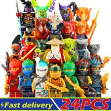 Building Blocks Minifigures Ninja Set Ninjago Battle Snakes Weapons Lot of 24PCS