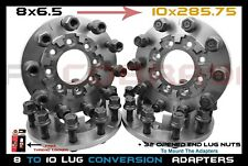 "4 Pc 8 To 10 Lug | 8x6.5"" To 10x285.75 MM Wheel Adapters 