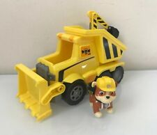 Paw Patrol Rubble's Ultimate Rescue Bulldozer with Moving Scoop and Lift-up EUC