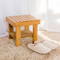 Wooden Step Stool for Kid Adult Portable Small Shower Bench Foot Stool Bedside