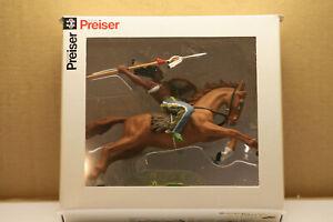 Preiser / Elastolin / 7cm bemalt - Indianer 54658 mit Pferd  , NEU & OVP