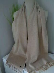 BNWT Hugo Boss Camel Heroso Wool Scarf  - Made in UK