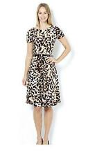 Nina Leonard Short Sleeve Animal Print Dress.  Size 2XL.  SA077 ii 02
