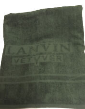 "Lot of 2 LANVIN Bath Sheet towels  60"" X 30"" Olive Green NIP"
