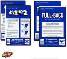 100 Mylites2 STANDARD Mylars Sleeve & Full Back 42pt Boards 725M2/700FB E.Gerber