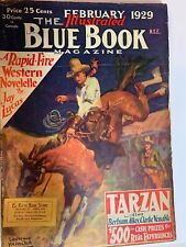February 1929 Blue Book Pulp Magazine-Tarzan by Edgar Rice Burroughs-Illustrated