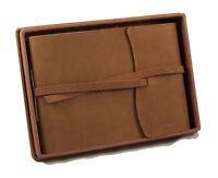 Photo Album Scrapbook Genuine Leather Rustic Vintage 4x6 5x7 Scrapbooking Gift