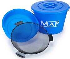Map New 25L Ground Bait Match Fishing Bucket, Bowl and Riddle Set