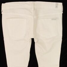 Mesdames seven 7 for all mankind straight Stretch Blanc Jeans W30 L34
