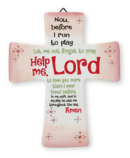 PORCELAIN CROSS - LORD HELP ME CHILD'S BEDROOM STATUES CANDLES PICTURES LISTED