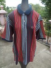 Vintage Tommy Hilfiger Striped Multi Color XL Short Sleeves shirt Polo 90's  EUC