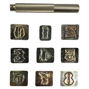 """3/4"""" (19mm) Standard Number Leathercraft Stamp Set"""