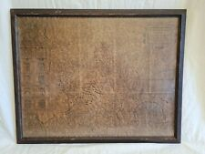 Antique vintage map of of Devonshire  in vintage frame