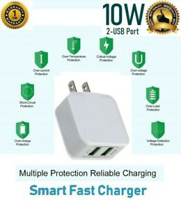 For iPhone 11,XS Max,XR,XS,8,7,SE 2,10W 2.1A Smart Quick USB  Wall Charger Cube