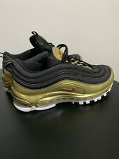 Nike Air Max 97 Qs Black And Gold Boys Size 5 (or Womens 6.5-7)