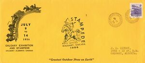 Canada Calgary Stampede 1956 #10 cover with Stampede PO cachet & cancel
