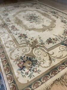 Area Rugs Beige Gold Cream Traditional Design Living Room Carpet 200*140