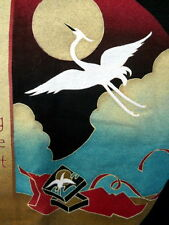 Discovering the Present Crane Bird Tee Shirt Black Lg Asian Inspired Sun Image