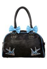 Banned Blue Swallows Handbag Nautical Rockabilly Style
