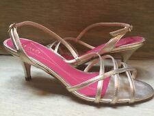 848c6d166405 BNIB Kate Spade 7.5 37.5 Gold Metallic Slingback Sandals Heels