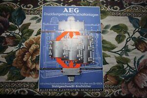 1938 Reklame Werbung 2 / AEG  Schaltanlagen
