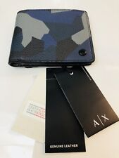 New Armani Exchange AX Mens GEO CAMO BILLFOLD WALLET
