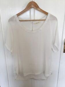 Mesop White Short Sleeve Top Size 12
